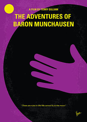 No399 My Baron Von Munchhausen Minimal Movie Poster Print by Chungkong Art