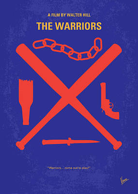 No403 My The Warriors Minimal Movie Poster Print by Chungkong Art