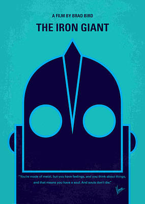 Robot Digital Art - No406 My The Iron Giant Minimal Movie Poster by Chungkong Art