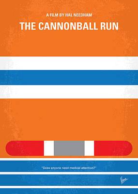 No411 My The Cannonball Run Minimal Movie Poster Print by Chungkong Art