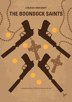 No419 My Boondock Saints Minimal Movie Poster Print by Chungkong Art