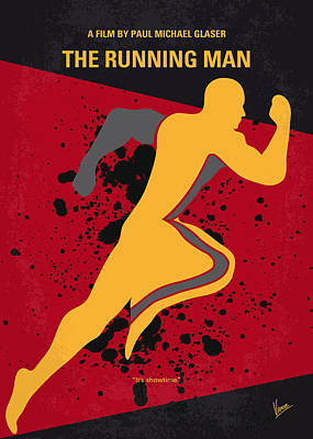 No425 My Running Man Minimal Movie Poster Print by Chungkong Art