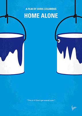 France Digital Art - No427 My Home Alone Minimal Movie Poster by Chungkong Art