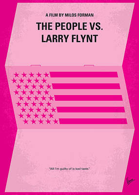 No395 My The People Vs Larry Flint Minimal Movie Poster Print by Chungkong Art