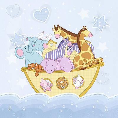 Zebra Drawing - Noah's Ark by Amanda Francey