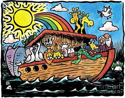 Noahs Ark Drawing - Noah's Ark by Lucas T   Antoniak