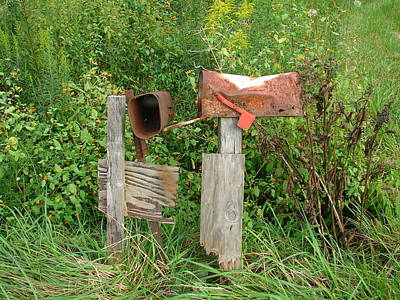 Mail Box Photograph - Nobody Ever Writes by Lew Davis