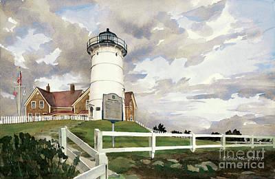 New England Lighthouse Painting - Nobska Light by Steve Hamlin