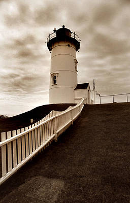 Of Lighthouses Photograph - Nobska Lighthouse by Skip Willits