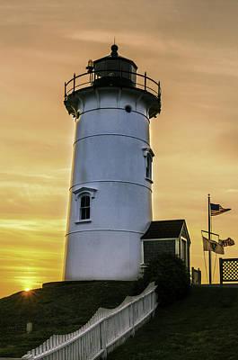 Nobska Lighthouse With Starburst Print by Thomas Schoeller