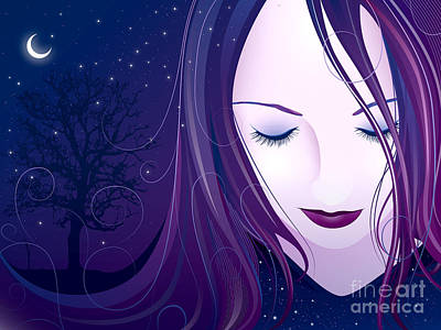 Nocturn Print by Sandra Hoefer