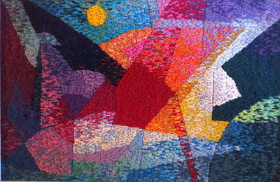Tapestry - Textile - Nocturne 11 by Diane Fine