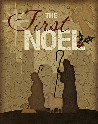 Nativity Scene Painting - Noel Shepherds by Jennifer Pugh
