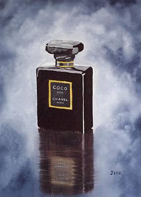 Chanel Painting - Noir by Rebecca Jenkins