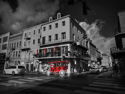 Red Photograph - Nola - French Quarter 003 Ck by Lance Vaughn