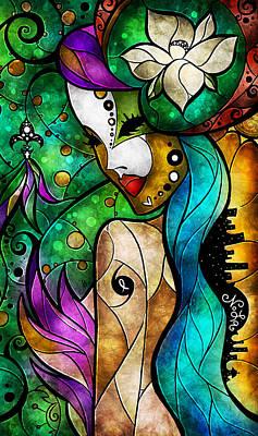 Mardi Gras Digital Art - Nola by Mandie Manzano