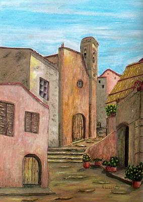 Italian Landscape Mixed Media - Nola by Pamela Allegretto