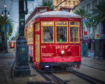 New Orleans Streetcar  Print by Erwin Spinner
