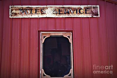 Noles Service Old Sign Print by JW Hanley