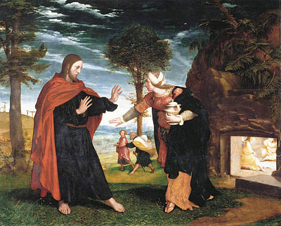 Noli Me Tangere Painting - Noli Me Tangere by Hans Holbein the Younger