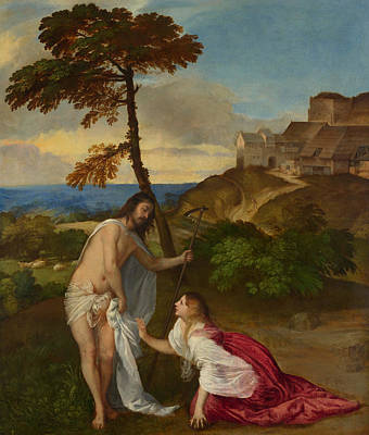Mary Magdalene Painting - Noli Me Tangere by Titian