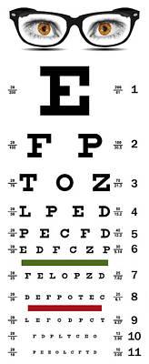 E 20 Digital Art - Non-traditional Eye Chart by Daniel Hagerman