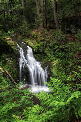 Green Photograph - Nonnewaug Falls by Bill Wakeley