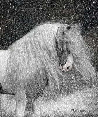Snow Digital Art - Nor Easter by Fran J Scott