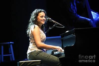 Ravi Photograph - Musician Nora Jones by Front Row  Photographs
