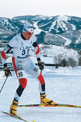 Nordic Ski Racer Print by Chris Selby