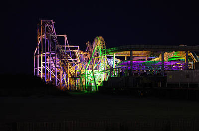 Rollercoaster Photograph - Nor'easter At Night by Greg Graham