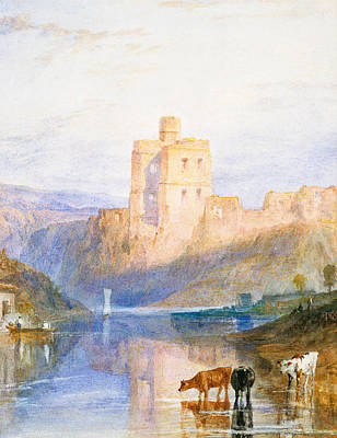 Reflections In River Painting - Norham Castle An Illustration To Marmion By Sir Walter Scott by Joseph Mallord William Turner