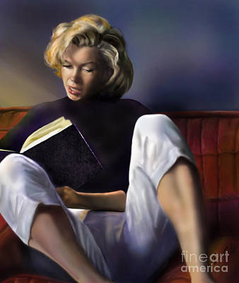 Model Painting - Norma Jeane Baker by Reggie Duffie