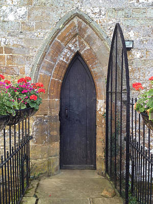 Grate Photograph - Norman Church Door by Nicole Parks