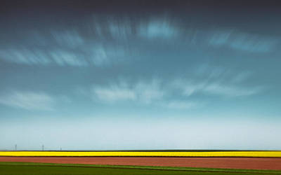 Semi Abstract Photograph - Normandy Fields by Dave Bowman