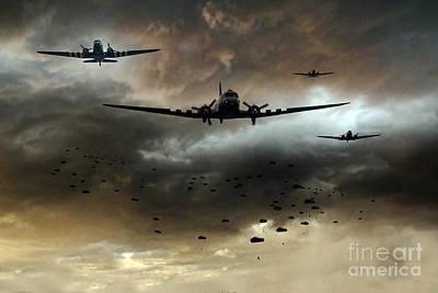 1944 Digital Art - Normandy Invasion by J Biggadike
