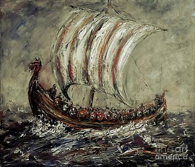 Norse Explorers Original by Arturas Slapsys