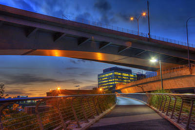 Boston Photograph - North Bank Foot Bridge - Boston by Joann Vitali