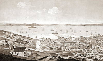 Alcatraz Photograph - North Beach San Francisco 1861 by Padre Art