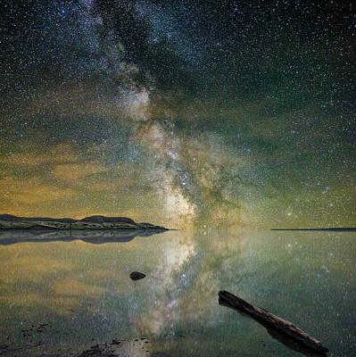 Galactic Digital Art - North Bend Milky Way by Aaron J Groen