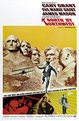 North By Northwest - 1959 Print by Georgia Fowler