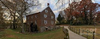 Kerr County Photograph - North Carolina 1823 Grist Mill Panorama by Adam Jewell