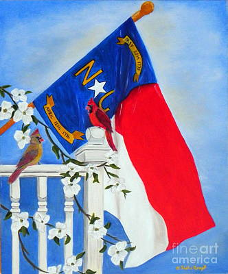 North Carolina - A State Of Art Print by Shelia Kempf