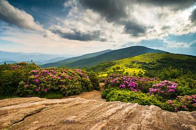 North Carolina Blue Ridge Mountains Landscape Appalachian Trail Print by Dave Allen