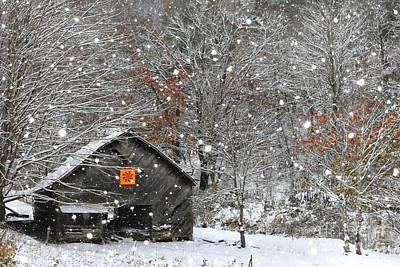 North Carolina Quilt Barn Print by Benanne Stiens