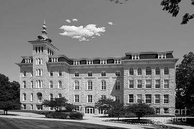 North Central College Old Main Print by University Icons