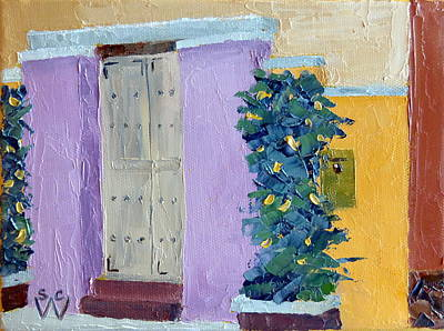 Southwest Gate Painting - North Court Street by Susan Woodward