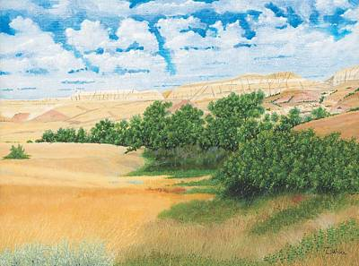 Abandoned Painting - North Dakota Coulee by David Wolfer
