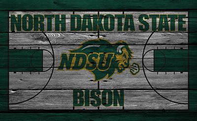 Bison Photograph - North Dakota State Bison by Joe Hamilton