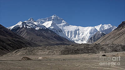 Tough Photograph - North Face Of Everest by Hitendra SINKAR